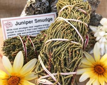 JUNIPER SMUDGE Stick | Sage Bundle for Ceremony, Meditation, Altar, Home Cleansing, Positive Energy Cleanse, Wicca Smudge Kit, Juniper Berry