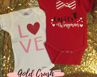 Valentines Bodysuits for Boys and Girls