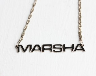 Vintage Name Necklace - Marsha