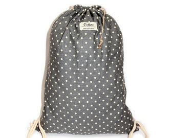 Ochos | Dots Gray Sack Bag