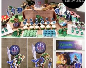 Zelda Birthday Party | Majora's Mask | Legend of Zelda | Zelda Decorations | Zelda Party Printable | Zelda Decor| Epic Parties by REVO