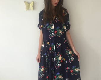 1980s Button Down Dress