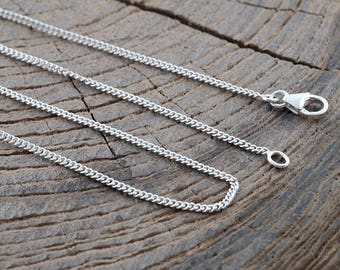 Sterling Silver Chain for Necklace without Pendant