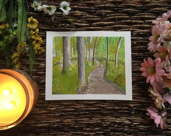 Woodland Path - Watercolor Painting