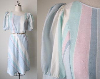 Vintage 70s Cotton Stripe Dress