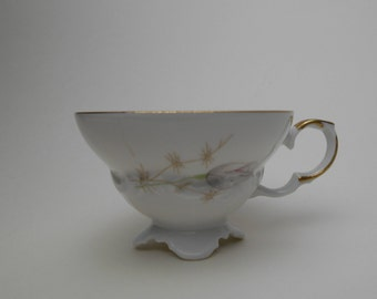 Vintage Edelstein Bavaria Maria-Theresia Espresso Cup – Floral Design with Gold Edging – Made in Germany