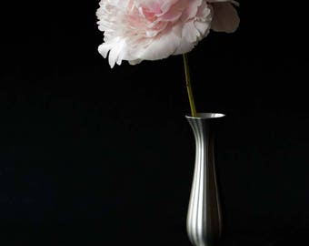 Pale Pink Peony Photo ~ Minimalist Art ~ Peony Print, Flower Photography ~ Floral Print ~ Black and White Wall Art ~ Pink Floral Home Decor