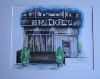 Bridge's, by Karen Paciullo, 2014, Throggs Neck, Bronx, NY, ready to frame art print