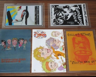 Rolling Stones Clear Files x 5
