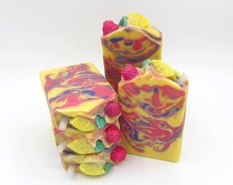 Raspberry Lemonade artisan soap