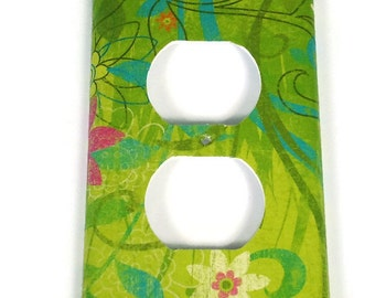 Wall Decor Light Switch Cover  Wall Plates Switchplate  Outlet  in Eden (504O)