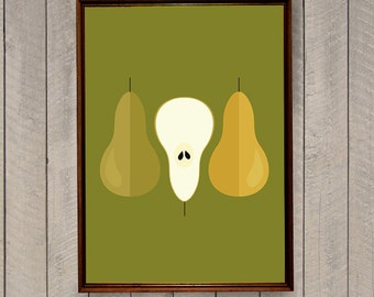 Scandinavian Kitchen, Fruit Poster, Digital Print, Kitchen Art, Kitchen Decor, Home Decor, Food Poster, Scandinavian Print, Gift for foodie