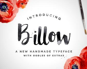 Digital Font - Billow - Calligraphy Script