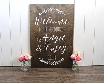 Wedding Welcome Sign - Wood Wedding Sign - Rustic Wedding Sign - Wedding Signs - Wedding Welcome Sign Wood - Woodland Wedding