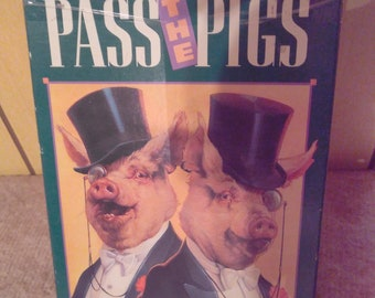 Vintage 1992 Pass The Pigs - The Go Hog-Wild Dice Game