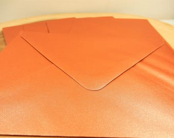 Copper C6 Envelopes, 5 x Envelopes, Pearlised Copper Envelopes