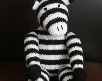Hand knitted zebra.