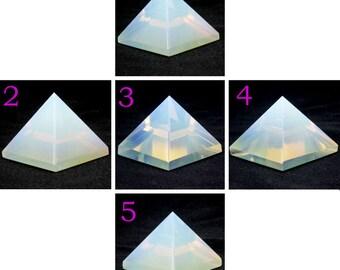 Opalite Glass Pyramid (YOU CHOOSE!)-2.0-3.0 cm (Reiki/Chakra) A
