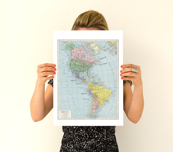 America map vintage reproduction poster America poster, America wall art,Vintage map poster,TVH240WA3