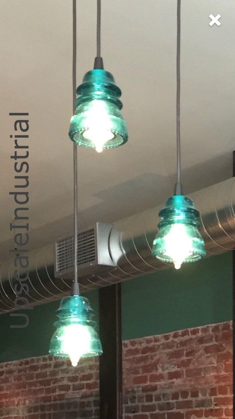 Insulator lighting chandelier vintage 1920s 60s zoom arubaitofo Choice Image