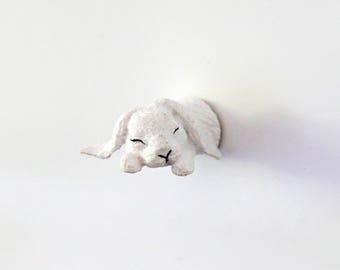 "Fridge Magnet ""Sleeping bunny"""