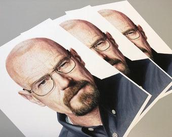 Walter White (Breaking Bad) Heisenberg A4 Print - Artology