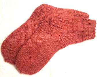 Hand knitted womens wool socks. SizeEU 39-40  US 8-8,5