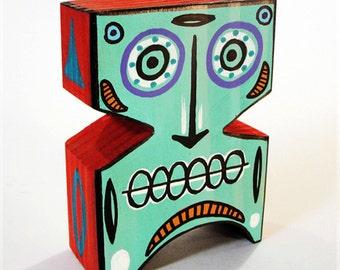Funk Totem Part No. 141 - Original Mixed Media Art Block - Vol. 5