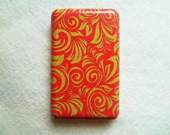 Red Gold Lace iPod Classic Hard Cover Shell Case 80/120/160 GB 6th 7th generation