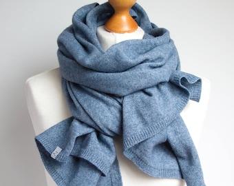 Wool scarf, blue scarf,  WINTER fashion, gift ideas, winter fashion accessories, gift ideas, wool scarf, chunky scarf for winter, shawl wrap