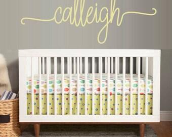 Custom Name Wall Decal, Baby Nursery, Baby Gift, Wall Decal, Kids Room, Nursery Decor, Nursery Decoration, Name Decal, Large Wall Decal