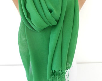 Greenery Scarf Shawl St Patricks Day Gift For Her Gift  Pashmina Scarf Spring Green Wedding Scarf Shawl Women Fashion Accessories