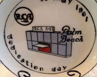 RCA Commemorative Plate Honoring Dedication Day, 25 May, 1961, Palm Beach
