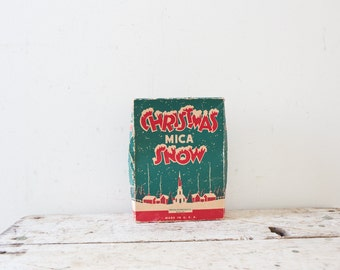 Christmas Mica Snow Vintage Fake Snow Never Opened Mica Snow Vintage Christmas Village Snow