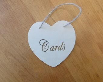 Wood Heart Card Sign, Card Box Sign, Wood Heart, Rustic Wedding, Wedding Sign, Cards Sign, Wooden Cards Sign, Wedding, Shower, Engagement