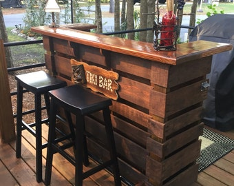 The Kona ~ Pallet Bar / Tiki Bar ~ U2022u2022 July Sale U2022u2022The