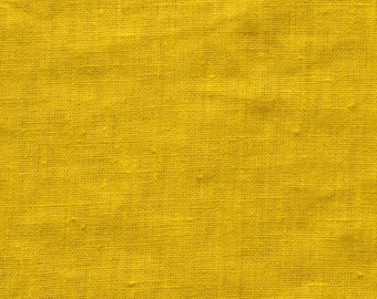 washed, mustard, linen 280g