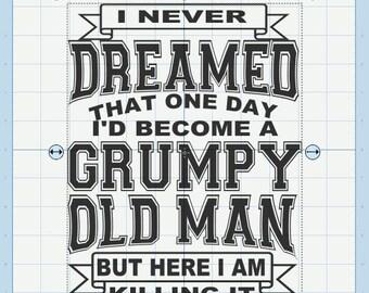Grumpy old man svg