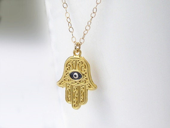 plated women tone color item hamesh for anniyo light pendant jewelry two of gold hamsa fatima hand necklaces necklace