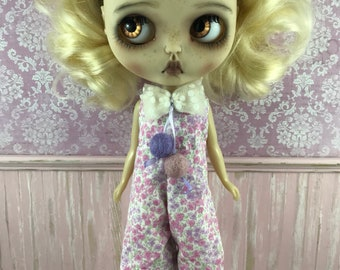Blythe Long Romper - Clown Suit - Pink and Lilac Floral