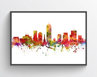 Indianapolis Indiana Skyline Poster, Indianapolis Cityscape, Indianapolis Art, Indianapolis Decor, Home Decor, Gift Idea, USININ08P