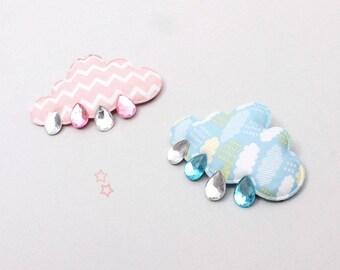 Cute Cloud Raindrops Girls Hair Clip Toddlers Baby Hair Accessories Hairpin