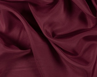 """45"""" Wide 100% Silk Habotai Dark Red-Wholesale by the Yard (2000M168)"""