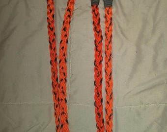 Orange and Camo Barrel Reins