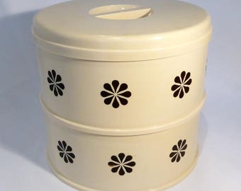 Stewart plastic stacking storage tins  - original from the 1960s