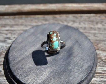 Sterling silver turquoise ring- size 8