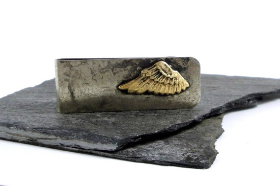 Brass Wing, Nickel Silver Wide Money Clip -Mens Gift under 50