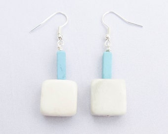 Handmade Jade & Turquoise Earrings. Yeyetzi Earrings