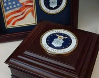 Air Force Keepsake Box With Engraved Nameplate