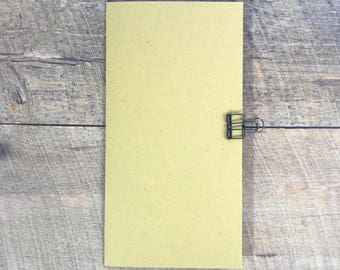 Mustard Travelers Notebook Insert - Midori Insert - Planning Insert - Neutral Color - Scrapbook Insert - Art Journal Insert - Various Sizes